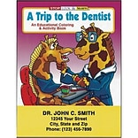 Custom Printed A Trip to the Dentist Coloring and Activity Book