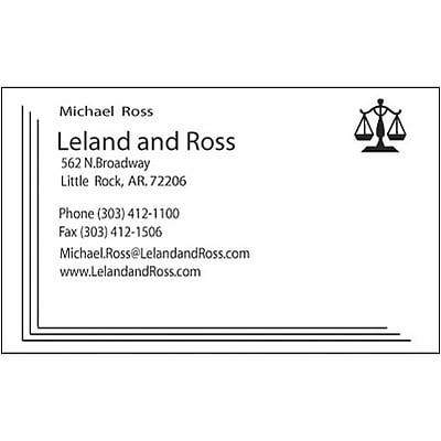 Classic Crest® 100-lb. Business Card; 1-Color, Solar White