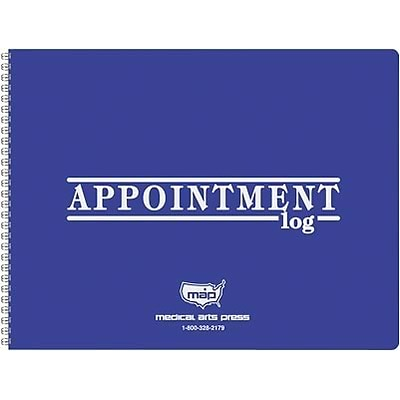 Medical Arts Press® 2 Column Weekly Appointment Log, 2019, 8-1/2x11, Blue Cover