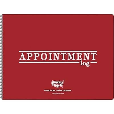 Medical Arts Press® 2 Column Weekly Appointment Log, 2019, 8-1/2x11, Red Cover