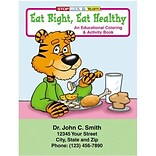 Custom Printed Eat Right, Eat Healthy Coloring and Activity Book