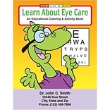 Custom Printed Learn About Eye Care Coloring and Activity Book
