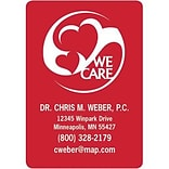 Medical Arts Press® Medical Color Choice Magnets; We Care Hearts