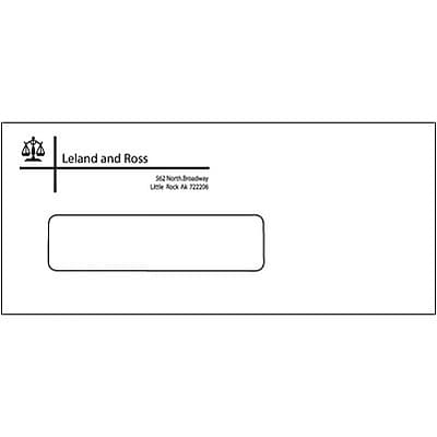 #10 Self-Seal Standard 1-Color Envelopes with Window