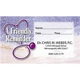 Full-Color Appointment Card; Friendly Reminder