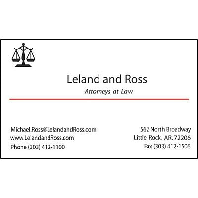 Classic laid 120 lb white business card quill classic laid 120 lb business card 2 color 2 sided colourmoves