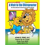 Custom Printed A Visit to the Chiropractor Coloring and Activity Book
