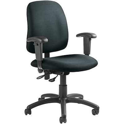 Global® Goal Low-Back Operator Chair with Arms; Grey