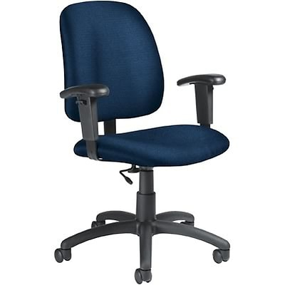 Global® Goal Low-Back Task Chair with Arms; Blue