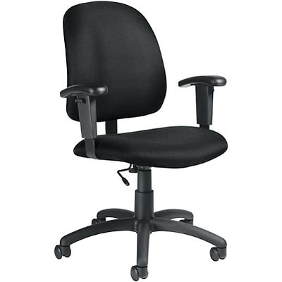 Global® Goal Low-Back Task Chair with Arms; Black