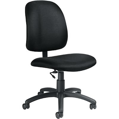 Global® Goal Low-Back Task Chair without Arms; Black