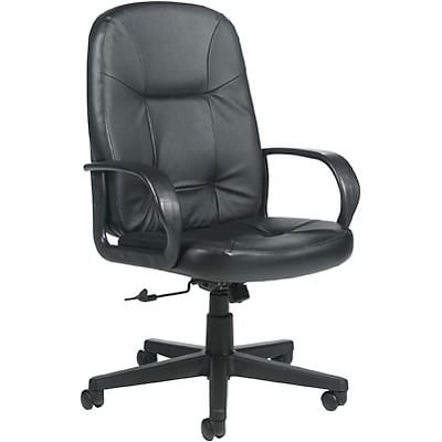 Global® Arno Leather High-back Executive Tilter Chair