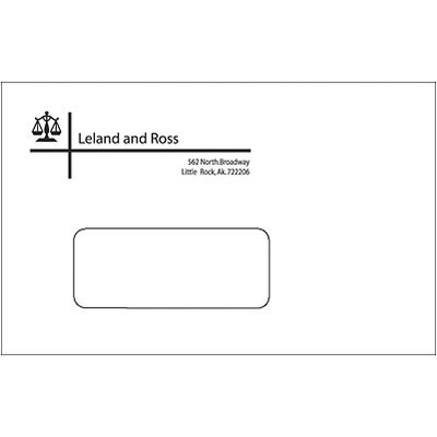 #9 Custom 1-Color Envelopes w/ Window, White