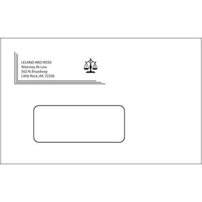 #6-3/4 Custom 1-Color Envelope w/Window,White