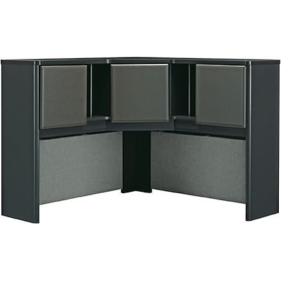 Bush® Cubix® Collection in Slate Finish; 47-1/4 Corner Hutch, Ready to Assemble