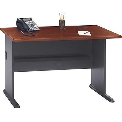 Bush® OfficePro Cherry Collection 48 Desk - BUNDLE