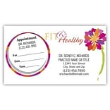 Medical Arts Press® Dual-Imprint Peel-Off Sticker Appointment Cards; Womens Health, Fit And Healthy