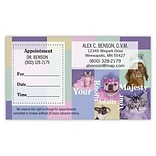 Medical Arts Press® Dual-Imprint Peel-Off Sticker Appointment Cards; Pet Boarding