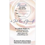 Medical Arts Press® Dual-Imprint Peel-Off Sticker Appointment Cards; Take Care Of Yourself