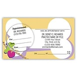 Medical Arts Press® Dual-Imprint Peel-Off Sticker Appointment Cards; Bone