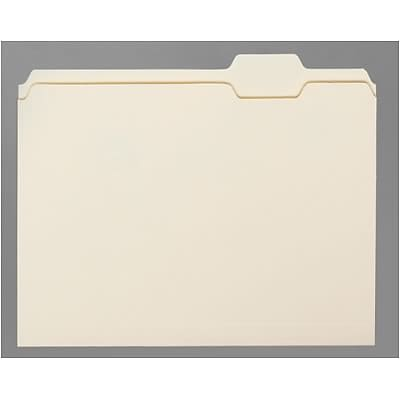 Quill Brand® Economy Letter Size Manila File Folders; 1/5-Cut Tabs