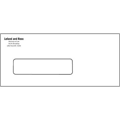 #10 Economy Envelope with Window; V-Flap