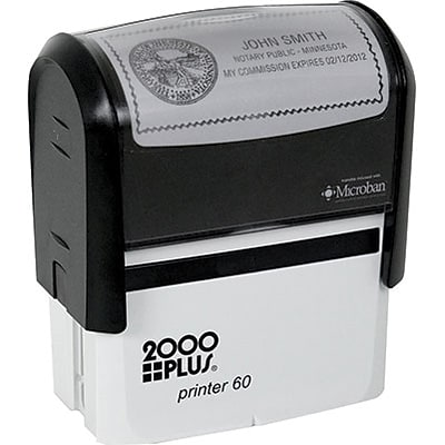 2000 Plus® Self-Inking Ohio Notary Stamp; 1-1/2x3, Up to 10 Lines