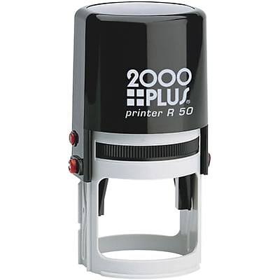 2000 Plus® Self-Inking Round Notary Stamp; 1-15/16 Diameter, Up to 14 Lines