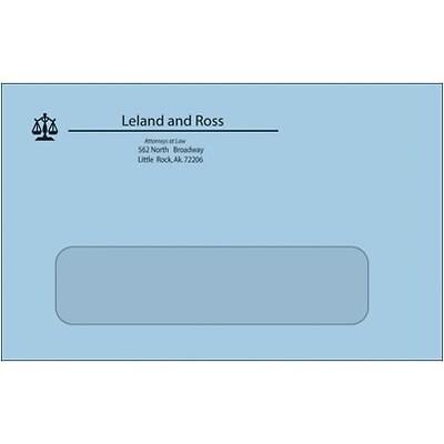 #6-3/4 Standard 1-Clr Econ. Env w/Window,Blue