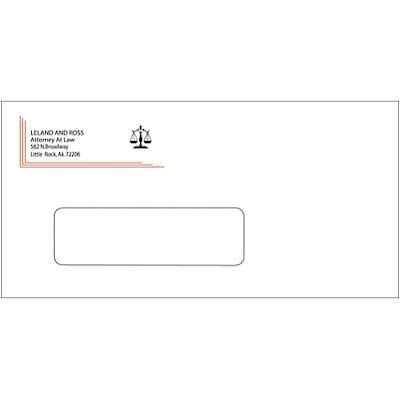 #9 Custom 2-Color Envelopes w/ Window, White