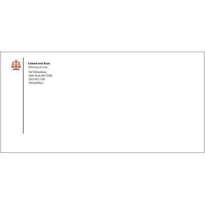 #9 Custom 2-Color Envelopes w/o Window, White