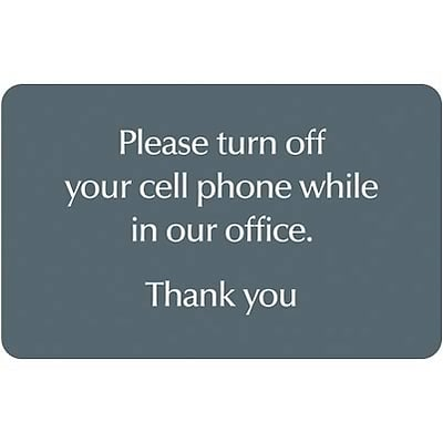 Medical Arts Press® Cell Phone Office Signs; No Cell Phone Message, Horizontal