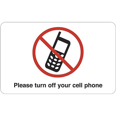 Medical Arts Press® Cell Phone Office Sign; Please Turn Off Your Cellphone, English