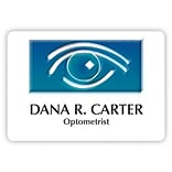 Custom Printed Medical Arts Press® Full-Color Eye Care Name Badges; Large, Optical