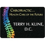 Custom Printed Medical Arts Press® Full-Color Chiropractic Name Badges; Large, Holistic Care