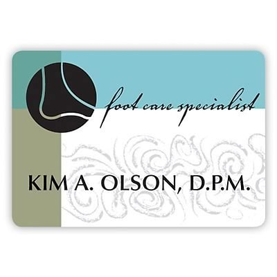 Custom Printed Medical Arts Press® Full-Color Podiatry Name Badges; Large, Sophisticated Feet