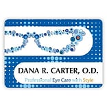 Custom Printed Medical Arts Press® Full-Color Eye Care Name Badges; Large, Sophisticated Glasses