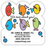 Medical Arts Press® Medical Die-Cut Magnets; 3x3, Colored Fish