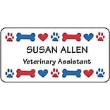 Medical Arts Press® Designer Name Badges; Large, Paw/Bone/Heart