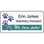 Medical Arts Press® Designer Name Badges; Large, We Love Pets