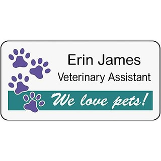 Veterinarian Name Tags with Custom Graphics   Quill com