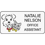 Medical Arts Press® Designer Name Badges; Large, Smiling Cat & Dog