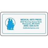 Medical Arts Press® Logo Magnet; White Background-Design Your Own, 3x1-1/2