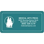 Medical Arts Press® Logo Magnet; Colored Background-Design Your Own, 3x1-1/2