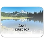 Custom Printed Medical Arts Press® Full-Color Generic Name Badges; Large, Mountain Scene