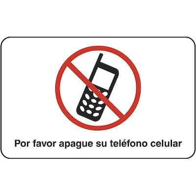 Medical Arts Press® Cell Phone Office Sign; Please Turn Off Your Cellphone, Spanish