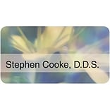 Custom Printed Medical Arts Press® Full-Color Generic Name Badges; Standard, Floral Impressions
