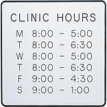 Medical Arts Press® Framed Engraved Signs; 9x9