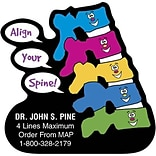 Medical Arts Press® Chiropractic Die-Cut Magnets; 3x3, Align Your Spine