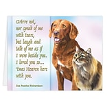 Medical Arts Press® Veterinary Sympathy Cards; Grieve Not, Personalized